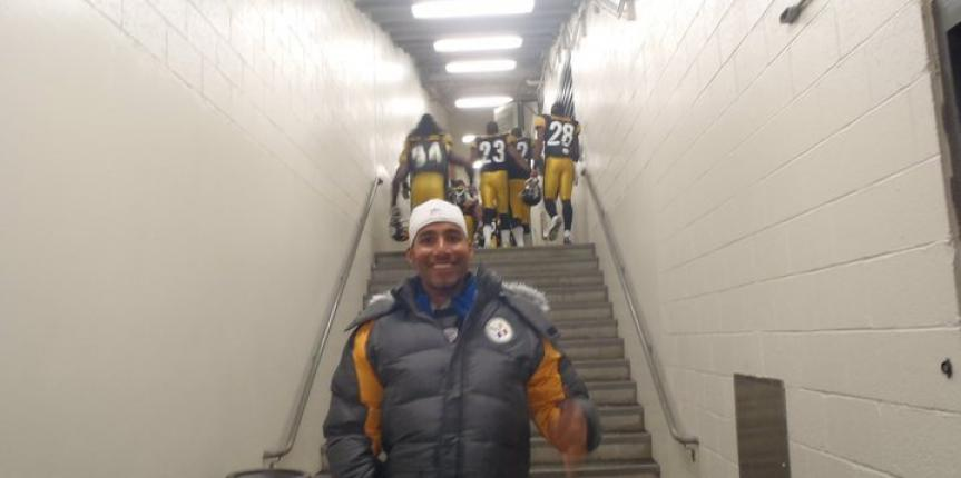 Rajesh Durbal Visit's Pittsburgh Steelers